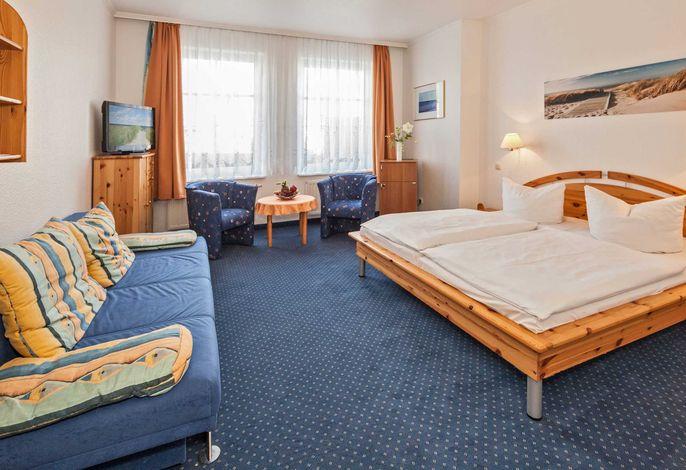 Doppelzimmer mit Schlafcouch zur Aufbettung