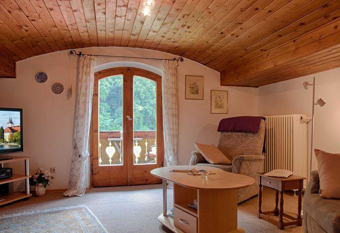Gästehaus Max-Josef in Tegernsee in ruhiger dennoch zentraler Lage - Ferienwohnung Bergblick