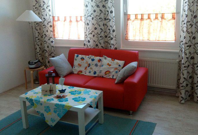 Wohbereich in der Ferienwohnung'Matrose' im Haus Ostseeblick in Lohme auf der Insel Rügen