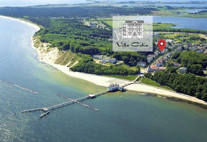 Luftbild Villa Celia Sellin