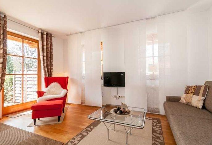 Seedomizil, Wohnzimmer mit Couch und Sessel