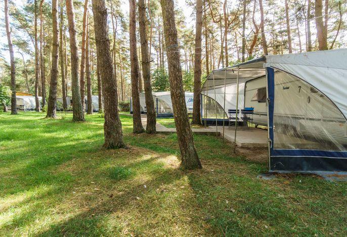 Urlaub im Wohnwagen - mitten im Wald