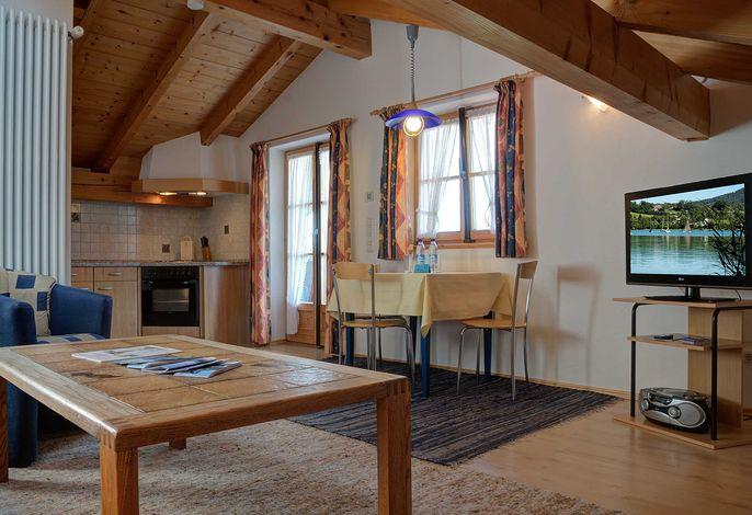 Ferienwohnung Flake  1 DG - Wohnzimmer