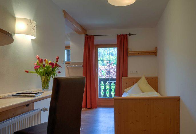 Einzelzimmer im Gästehaus Webermohof