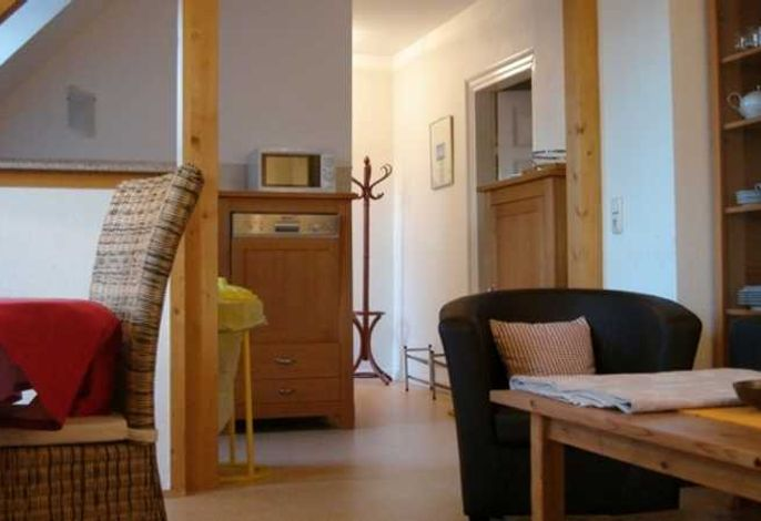 Ferienwohnung Katzenkorb mit Blick auf die Küche