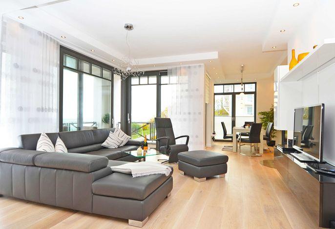 Villa Claire im Ostseebad Sellin WG 08 Wohnzimmer