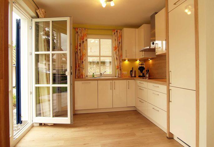 Die voll ausgestattete Küchenzeile