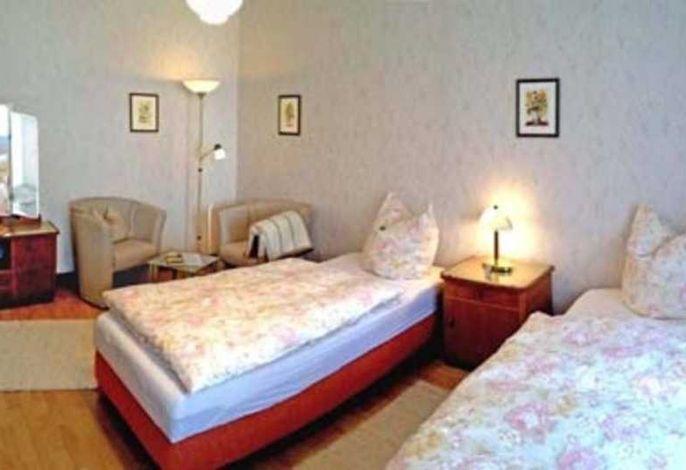 Schlafbereich mit Sitzecke