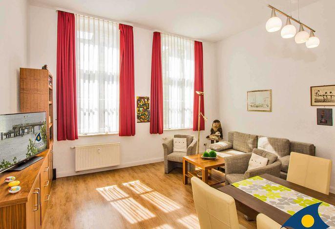 Wohnzimmer mit Sitzmöglichkeiten