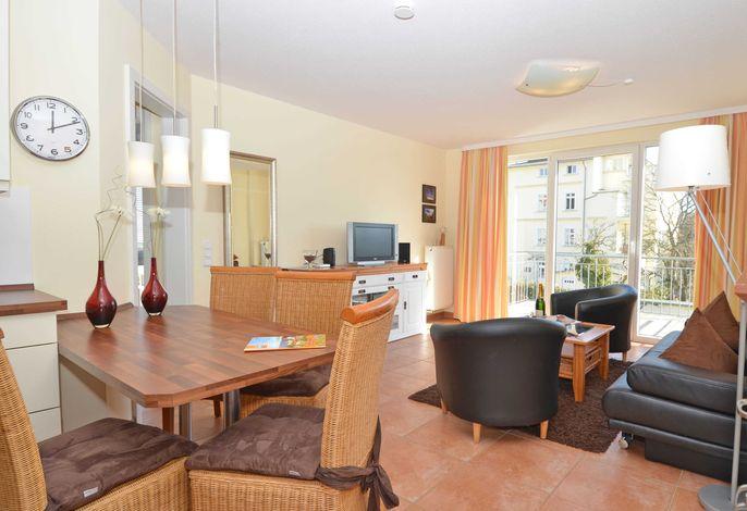 Haus Möwe im Ostseebad Sellin WG 05 Wohnzimmer