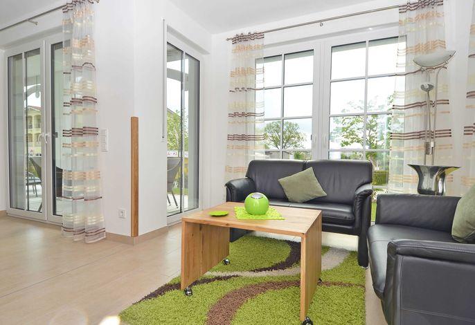 WG 02 in der Villa Annika im Ostseebad Sellin - Wohnbereich
