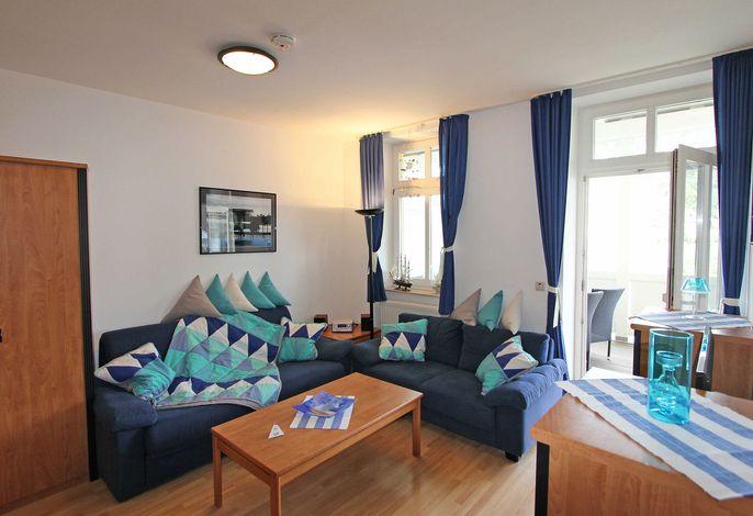 WG  04 in der Villa Freya im Ostseebad Sellin - Wohnbereich