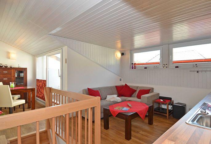 WG 03 Sonnendeck im Ferienhaus Luv & Lee  - Wohnbereich
