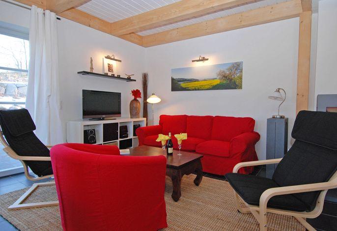 Der Wohnbereich der Haushälfte Sophie Charlott in Seedorf