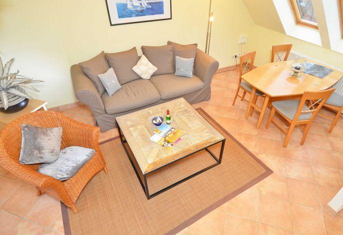 WG 09 in der Villa Malepartus im Ostseebad Binz - Wohnzimmer