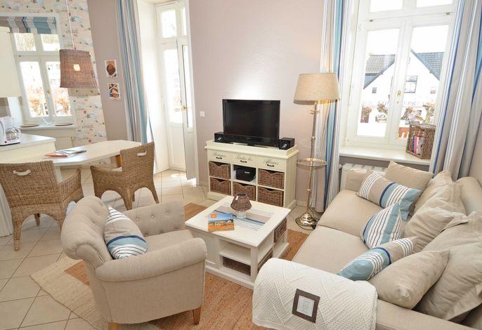 Villa Fernsicht im Ostseebad Sellin WG 02 Wohnzimmer