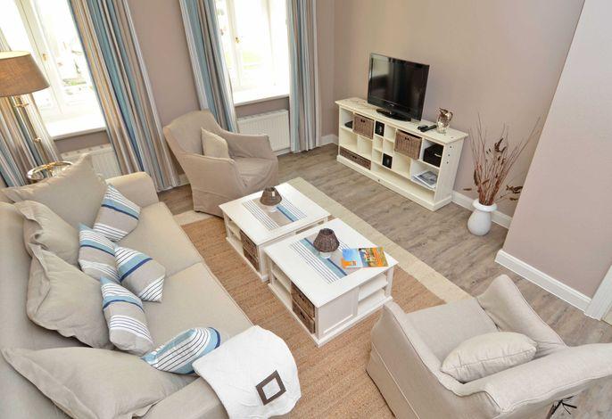 Villa Fernsicht im Ostseebad Sellin WG 10 Wohnzimmer