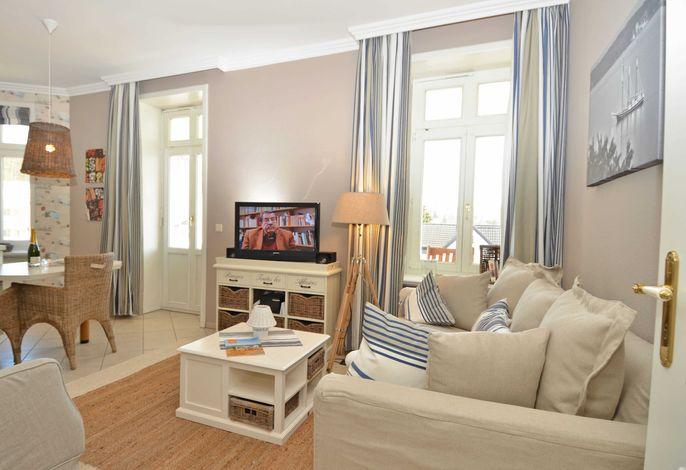 Villa Fernsicht im Ostseebad Sellin WG 6 Wohnzimmer