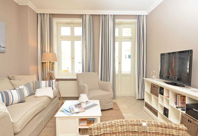 Villa Fernsicht im Ostseebad Sellin WG 5 Wohnzimmer
