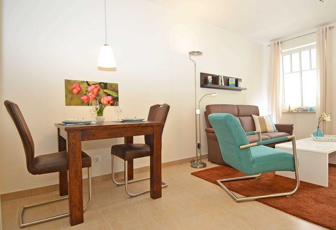 Der Wohnbereich der Wohnung 10 in der Villa Rosa
