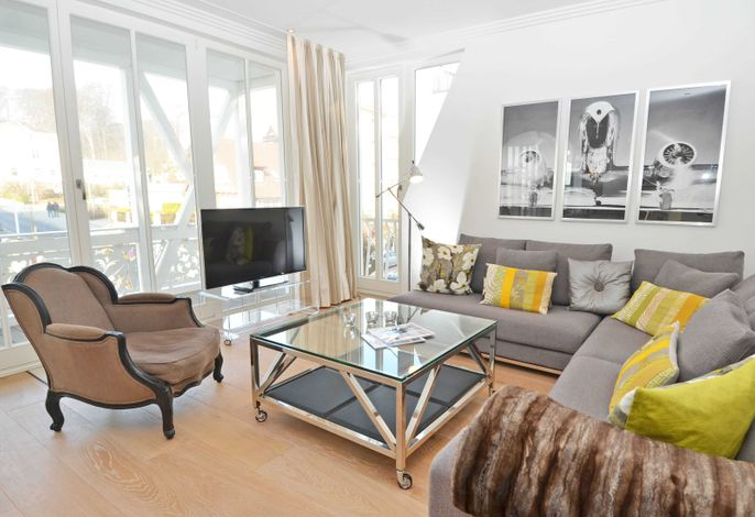 Villa Johanna im Ostseebad Sellin WG 12 Wohnbereich