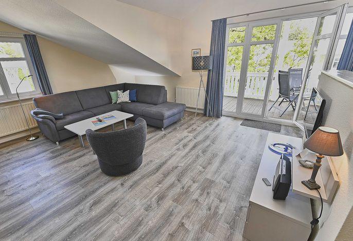 Villa Seerose in Sellin WG 12 - Wohnbereich