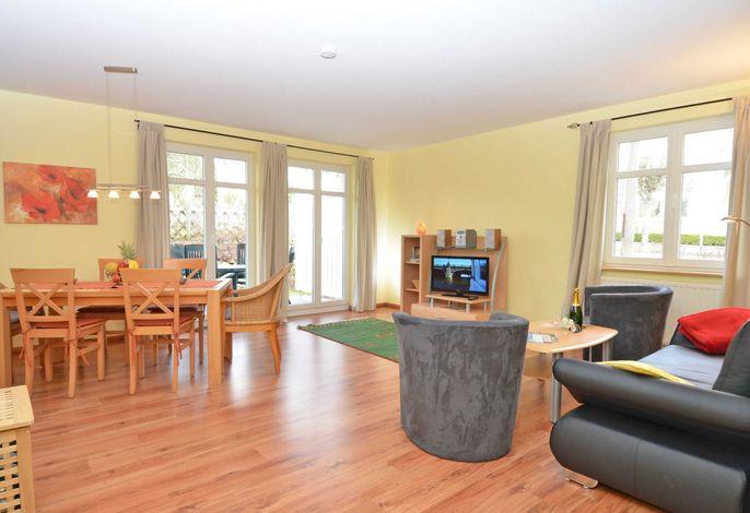 WG 15 in der Villa Seerose im Ostseebad Sellin - Wohnbereich