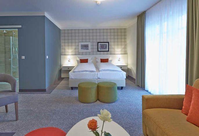 Schlafbereich Doppelzimmer Deluxe