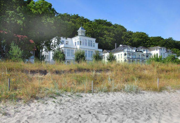 Die Villa Agnes direkt an der Strandpromenade von Binz
