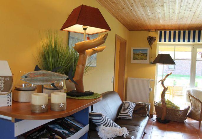 Wohnbereich mit Küche Ferienhaus 4 Ferienhof Ostseeland Rerik Ostseebad Rerik