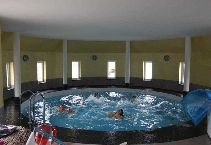 im Pool kann auch getobt werden ( Tiefe 1,35 m ) 35 m³ Wasser