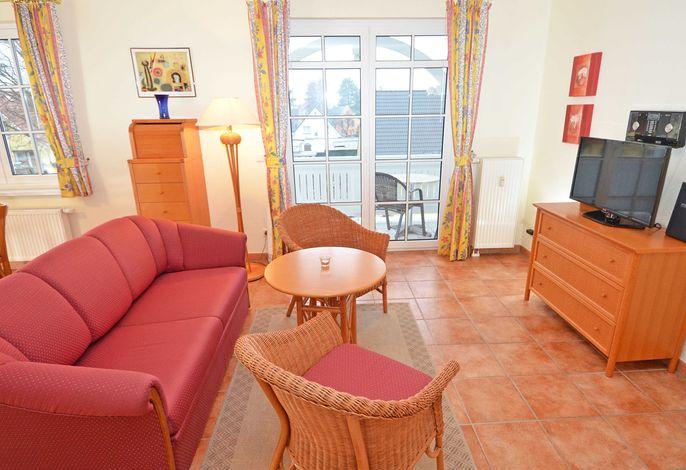 Villa Dornbusch im Ostseebad Binz WG 08 - Wohnzimmer mit Schlafsofa
