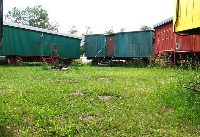 Wohnwagen im Wangeliner Garten mit Sommerküchen - Nutzung