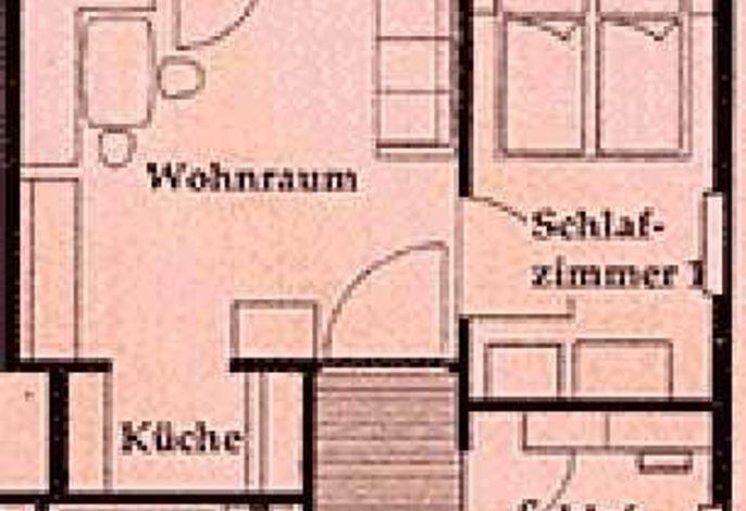 Terrassen-Wohnung RIED Gundriss