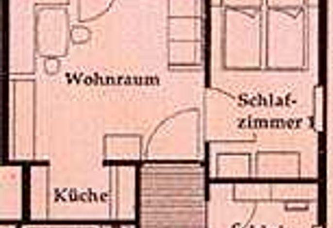 Ferienwohnung SCHAFBERG Grundriss