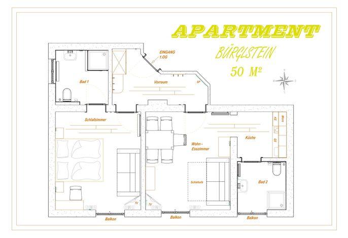 Grundriss Apartment Bürglstein