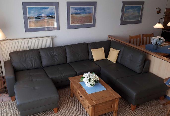 Wohnraum mit Echtledercouch
