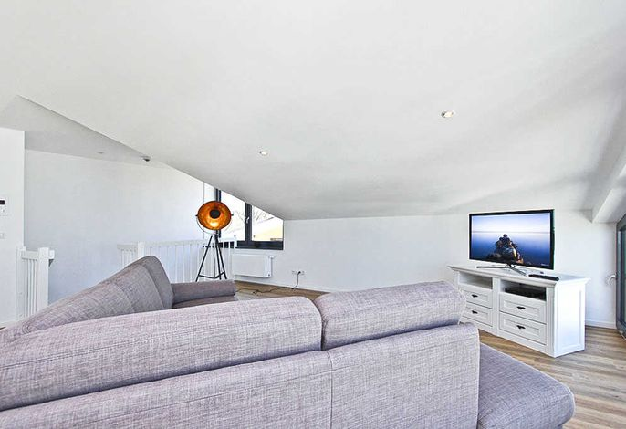 Flatscreen-TV im Wohnzimmer