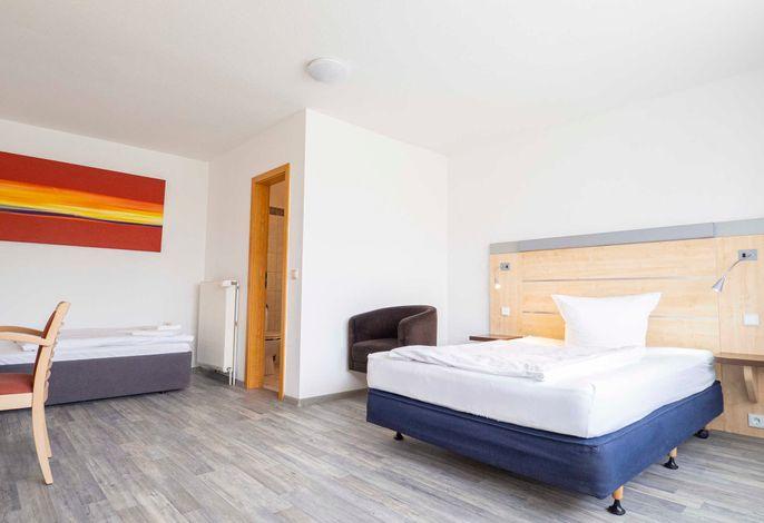 Doppelzimmer Comfort, teilweise mit Schlafcouch oder drittem Bett