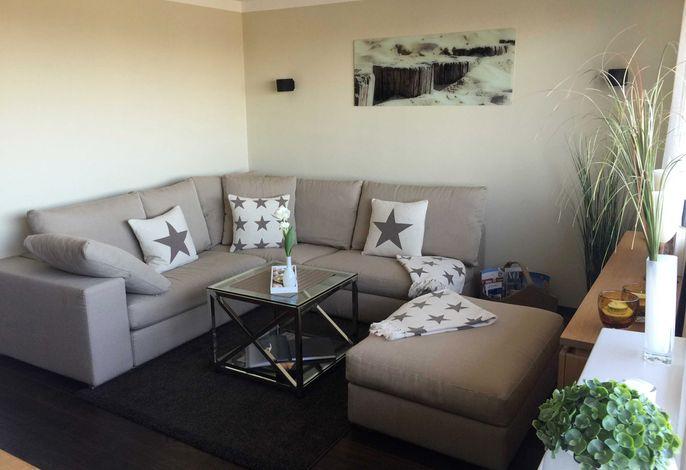 Designer-Couch über Eck