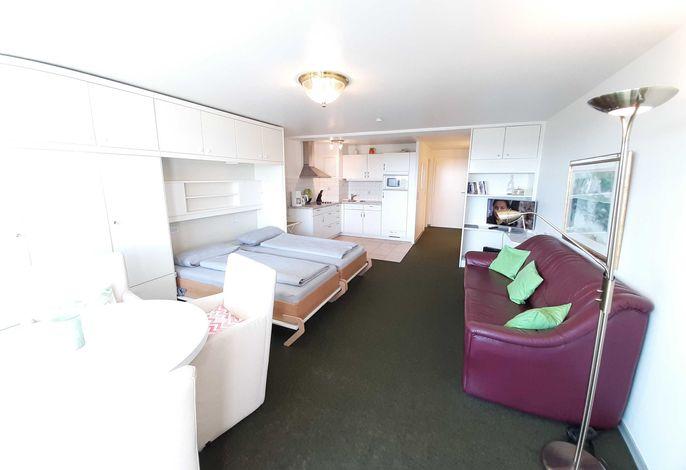 1-Zimmerwohnung it Schrankbett,  Küchennische