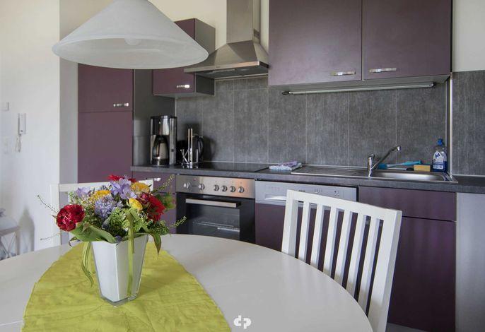 Essplatz und Einbauküche