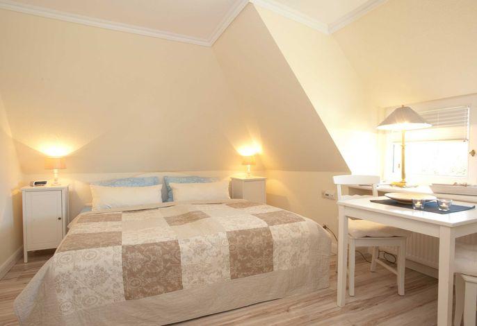 Schlafbereich Ferienwohnung Strandburg im Linderhof Sylt