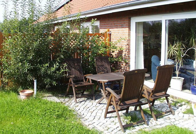 Terrasse der Ferienwohnung (Südlage)