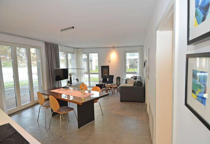 Der Wohnbereich der Wohnung 16 in der Strandvilla Baabe