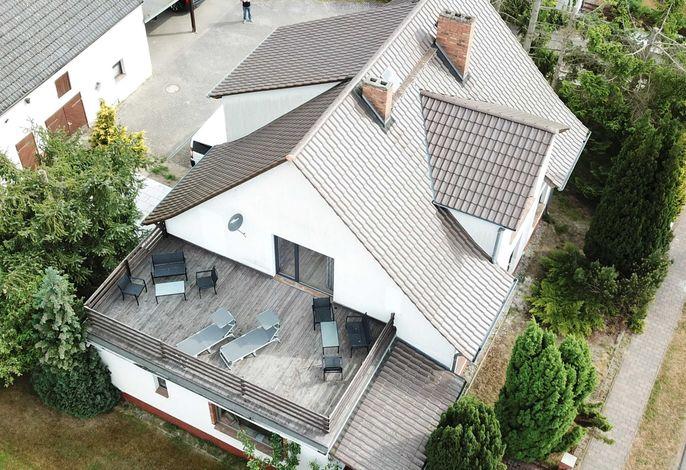 Außenansicht der Dachterrasse ( Luftbild )