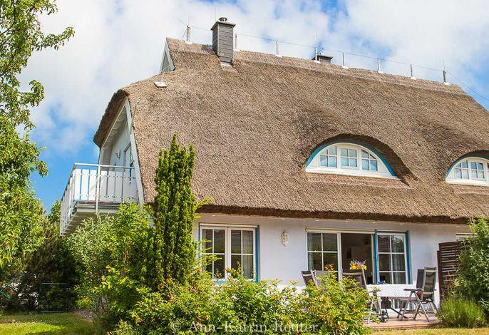 Der vollständig umzäunte Garten mit zur Wohnung gehörigen Terrasse!