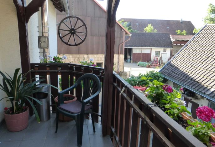 Balkon und Zugang
