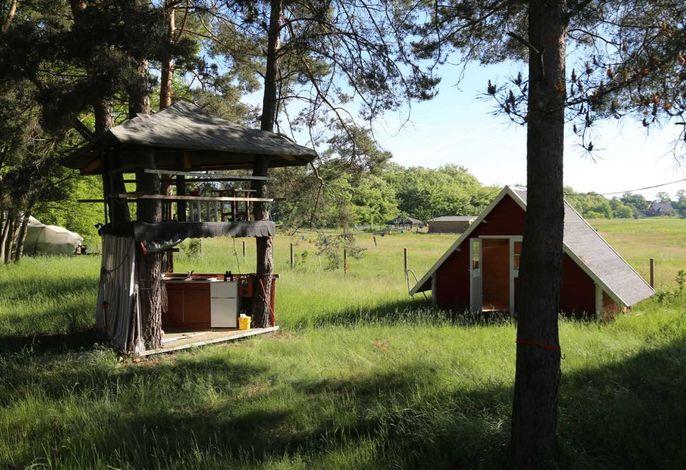 HavelFinn - Finnhütte, Sauna - rustikale Ferien auf dem Land