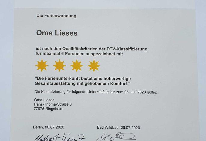DTV-Urkunde. Gültig bis 05. Juli 2023